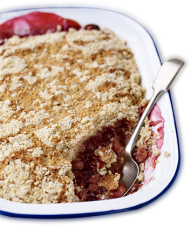 Apple and Raspberry Crumble